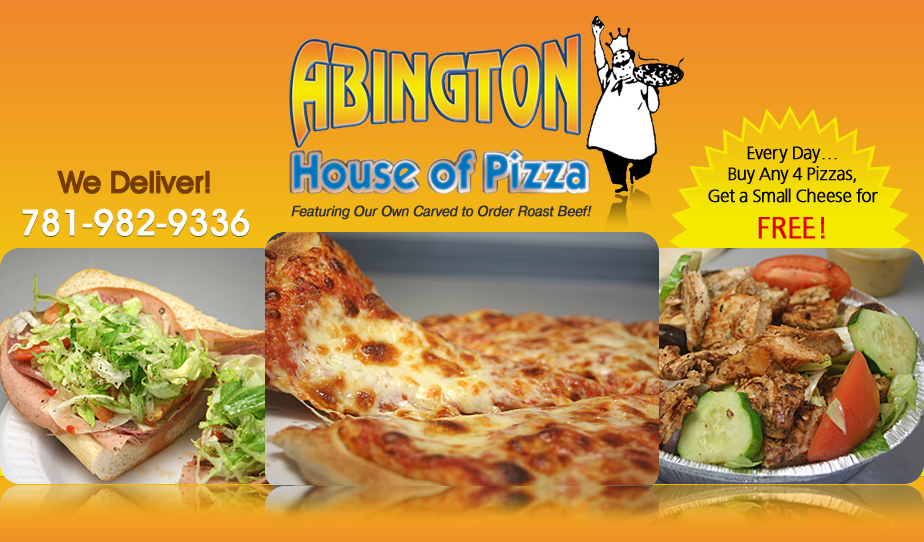 Abington House Of Pizza Pizza Subs Catering Abington Ma